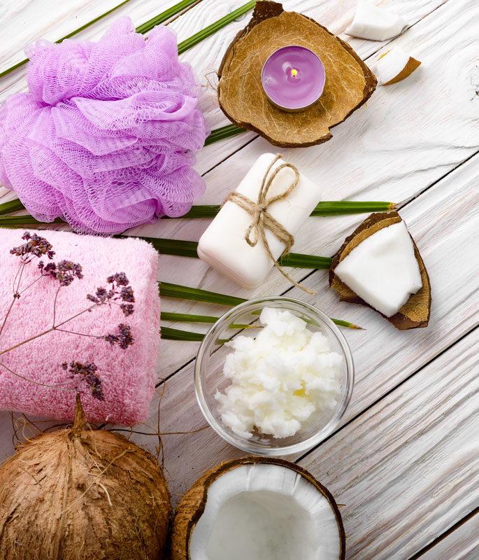 masaj anticelulitic cu ulei de cocos