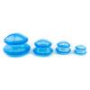 Set ventuze masaj anticelulitic din silicon-albastru